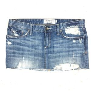 Abercrombie & Fitch Distressed Jean Skirt Size 2